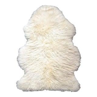 Ivory Sheepskin Rug - 2' × 3'