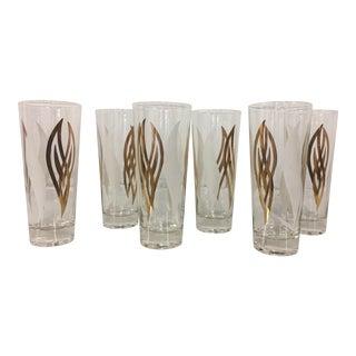 Mid-Century Modern Highball Glasses - Set of 6