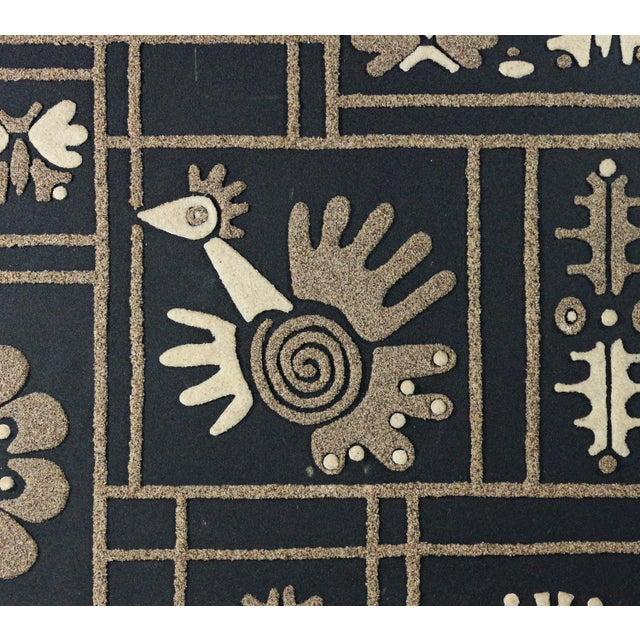 Huge Mid-Century Framed Graphic Sand Art - Image 3 of 7