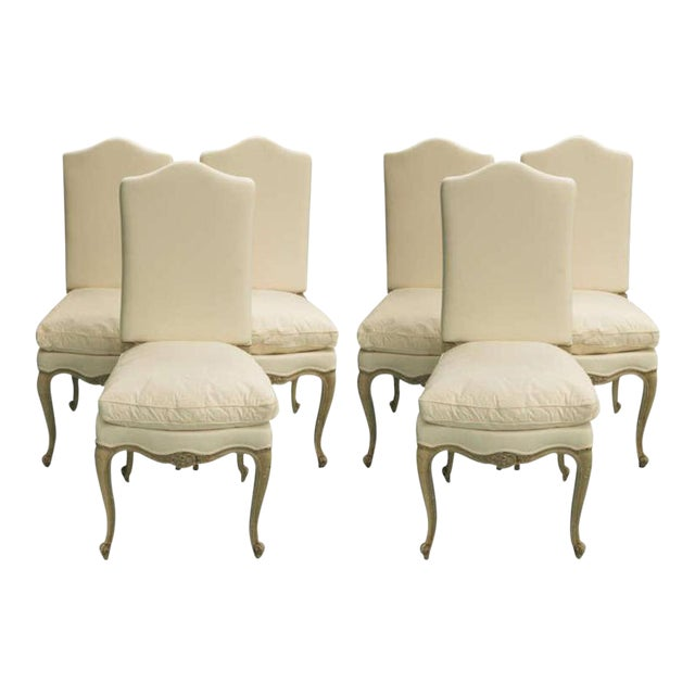 Set of Six 19th Century Louis XV Dining Chairs For Sale