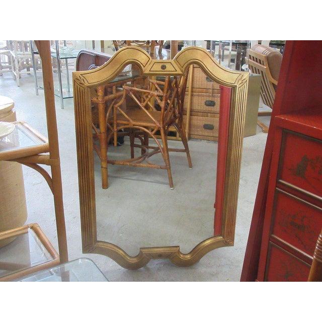 Gold Gilt Hollywood Regency Mirror - Image 2 of 7