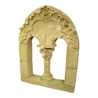'Faux Stone Roman Window' French Theater Decor For Sale