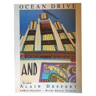 Art Deco Poster Signed by Alain Despert For Sale
