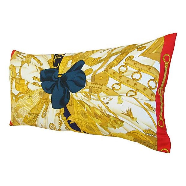 "Authintic Hermes ""Caty Latham"" Silk Pillow - Image 2 of 6"