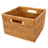 Image of Artifacts Rattan Square Basket For Sale