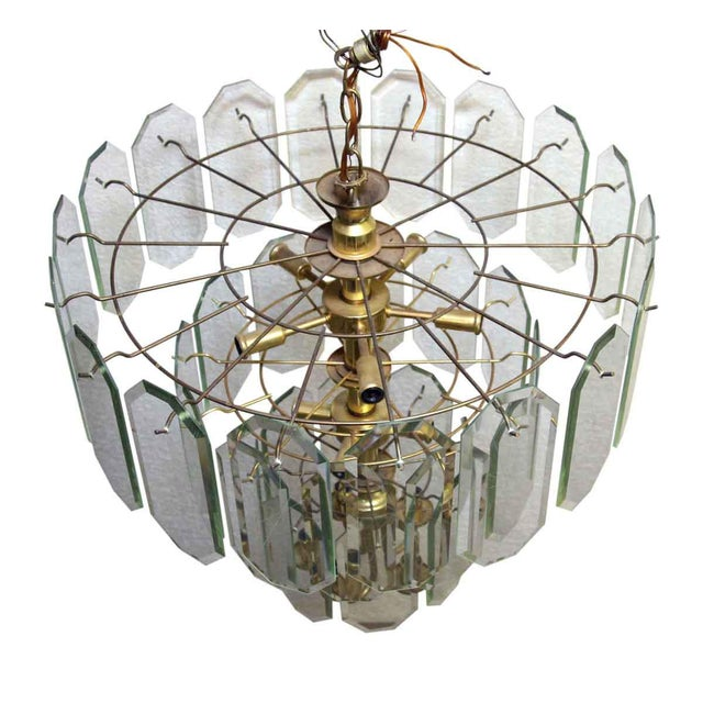 Mid Century Tiered Wedding Cake Chandelier For Sale - Image 6 of 7