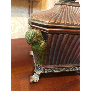 Vintage Mid Century Carved Gilt Bronze Parakeet Box Preview