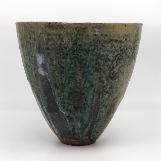 Various Artists Late 20th Century Vintage Glazed Studio Pottery Vase For Sale - Image 4 of 13