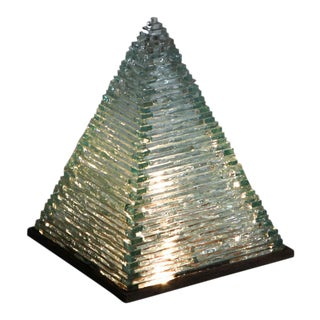 Pyramid Glass Lamps by Pia Manu For Sale