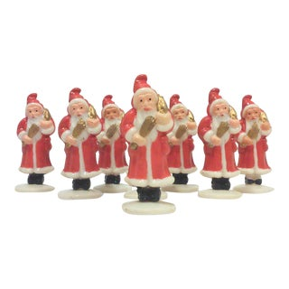 Vintage Santa Cupcake Toppers - Set of 8