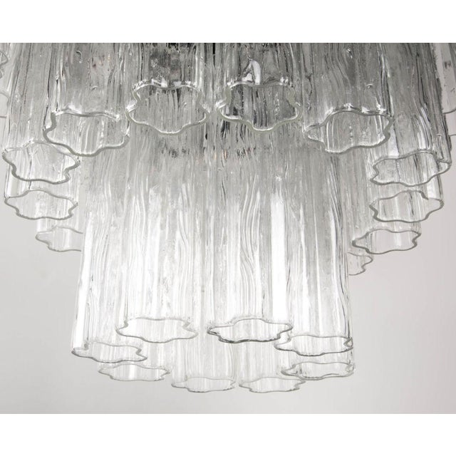 1970s Round Three Tier Penta Foil Chandelier by Camer For Sale - Image 5 of 5