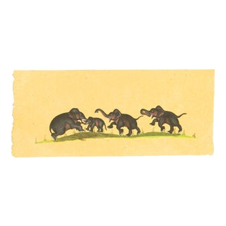 Hand Painted Indian Elephants From the 1920s For Sale