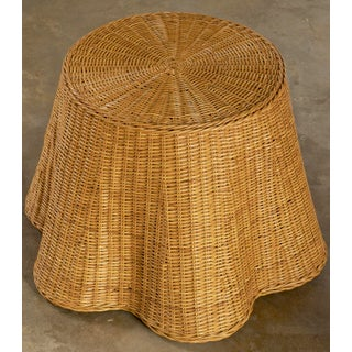 Wicker Drape Side Table With Removable Glass Top Preview