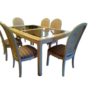 Transitional Thomasville Prestige II - Blonde Wood Dining Set - 9 Piece Set For Sale
