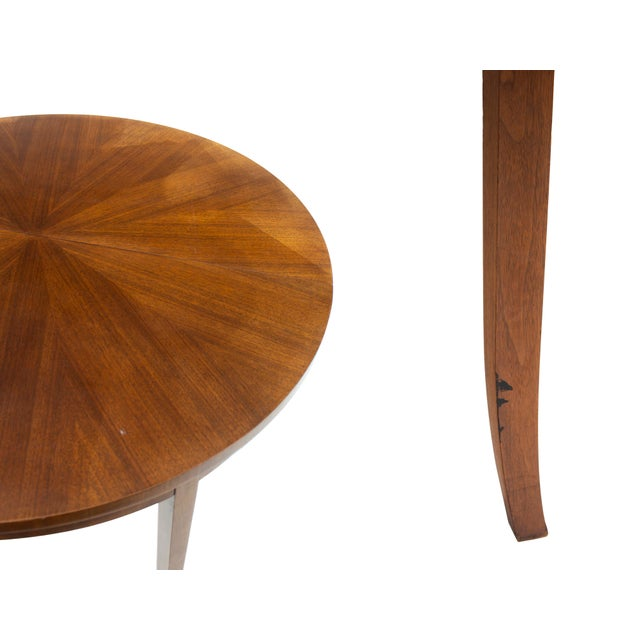 Round Dining Table by t.h. Robsjohn-Gibbings for Widdicomb, Model 4322 For Sale - Image 9 of 12