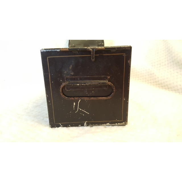 Industrial Antique Bank Safety Deposit Box For Sale - Image 3 of 7