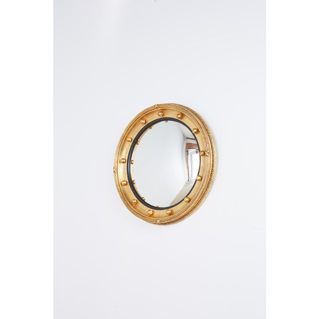 English Regency Style Round Convex Bullseye Mirror For Sale - Image 4 of 12