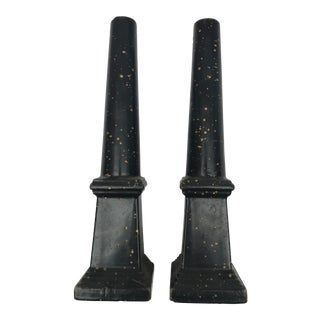 20th Century Traditional Obelisk Candlesticks - a Pair For Sale