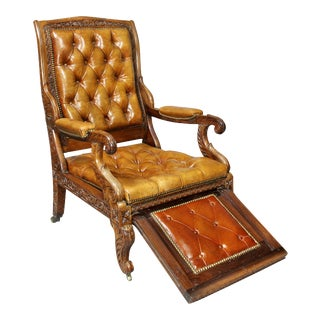 Early 19th Century Regency Anglo Indian Rosewood Reclining Armchair For Sale
