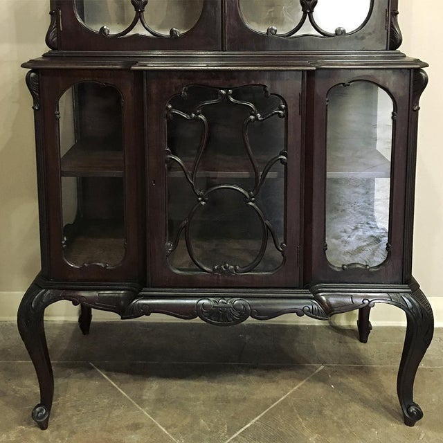 19th Century English Curio Cabinet For Sale - Image 12 of 13
