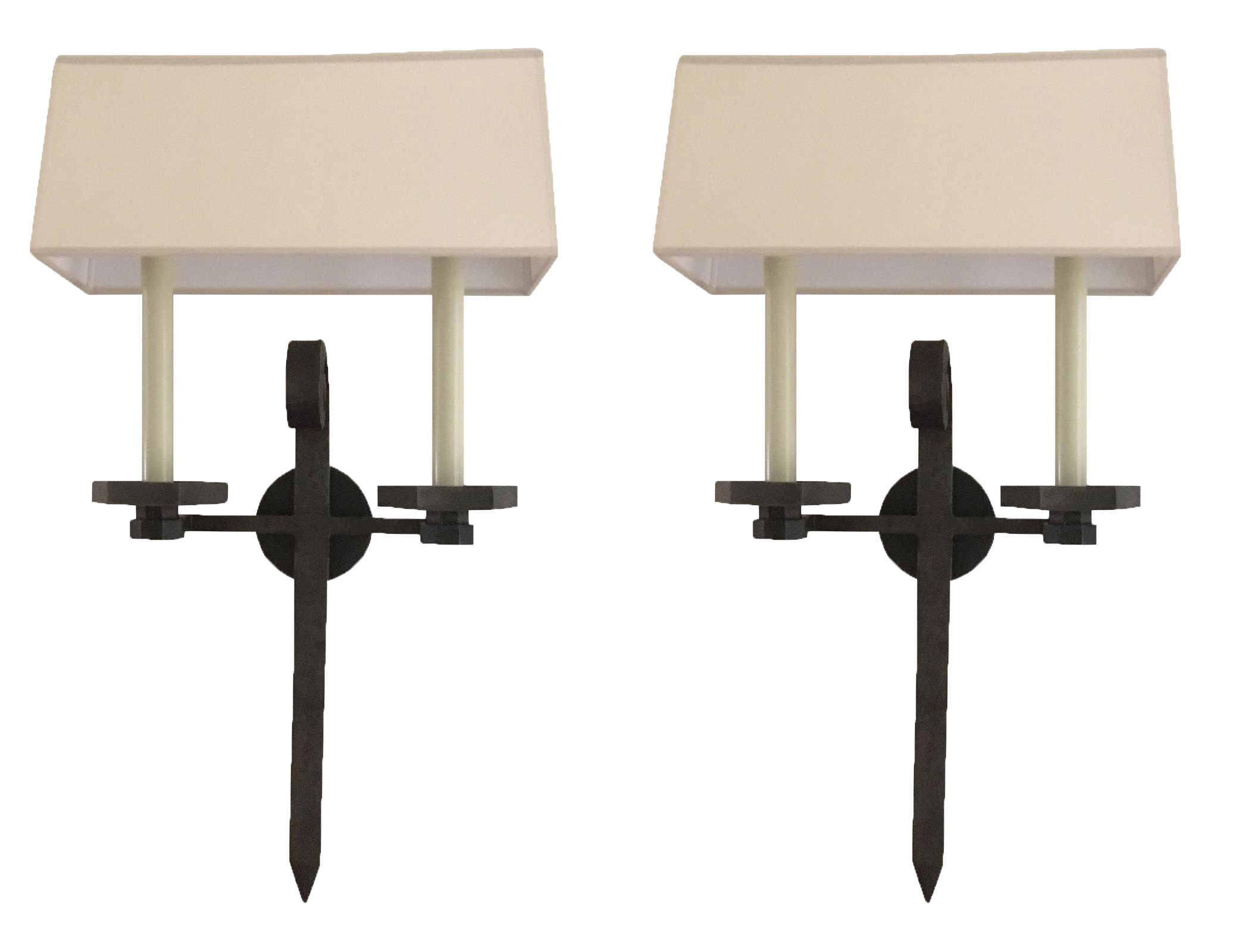 Visual Comfort Iron Wall Sconces - Pair  sc 1 st  Chairish & Visual Comfort Iron Wall Sconces - Pair | Chairish