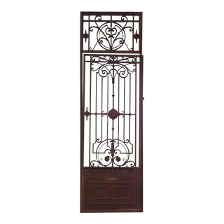 Iron Gate with Transom, circa 1890 For Sale