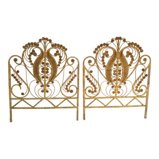 Vintage Boho Chic Twin Natural Rattan Headboard - a Pair For Sale