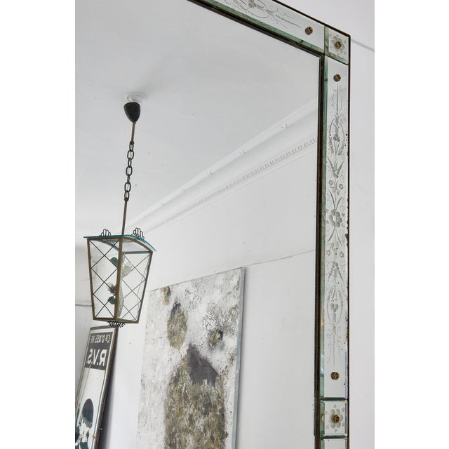 Large Italian Venetian Mirror For Sale - Image 6 of 9