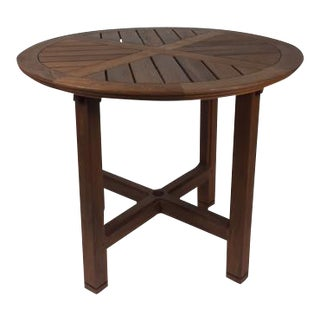 "36"" Round Solid Teak Wood Dining Table by Terra Furniture"