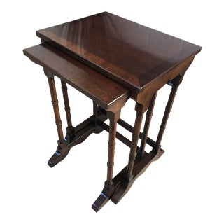 American Drew Edwardian-Inspired Nest of Tables - a Pair For Sale