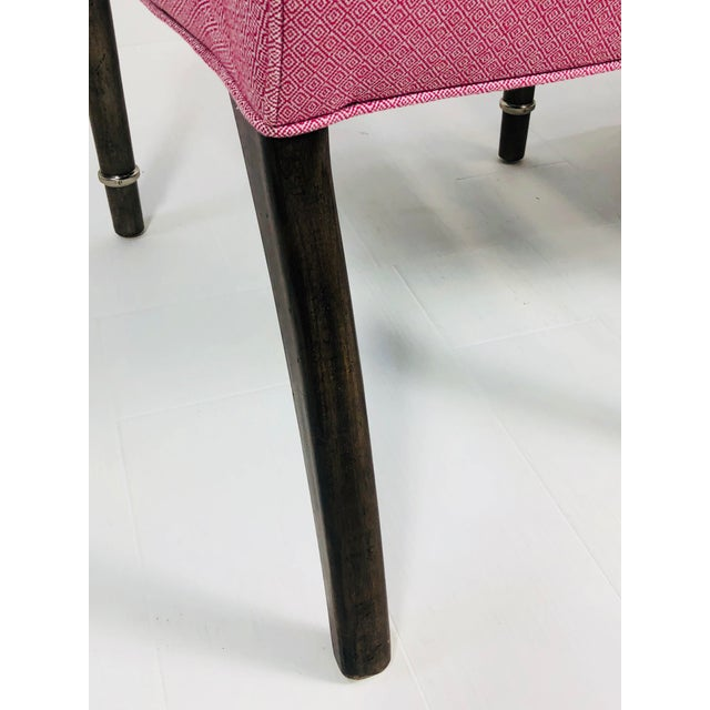 2010s Contemporary Drexel Heritage Pink Tufted Dining Chairs - a Pair For Sale - Image 5 of 10