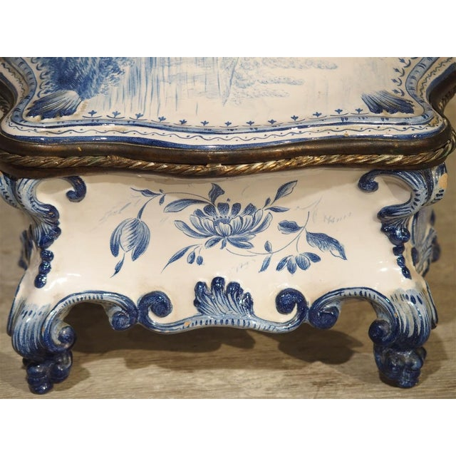 Late 19th Century Antique Blue and White Delft Table Box, Late 19th Century For Sale - Image 5 of 13