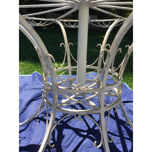 Antique 19th Century Wrought Iron 12-Sided French Table For Sale - Image 10 of 10