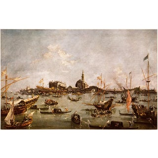 """Francesco Guardi """"Venice: The Doge Embarking on the Bucentaur"""", First Edition Vintage Lithograph For Sale"""