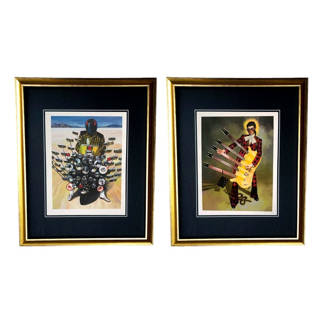 Framed Gucci Abstract Motorcycle Shoes & Rockstar Guitar Fashion Self Portrait Art - a Pair For Sale - Image 11 of 11