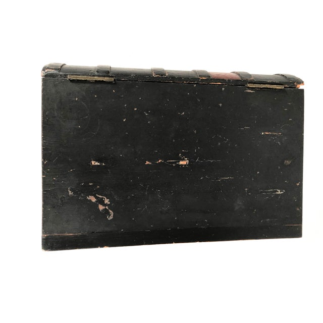 19th Century Painted Wood Book Box on Stand For Sale - Image 9 of 13