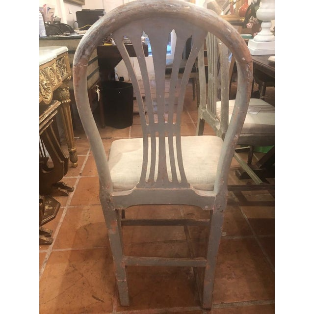White Set of Six Gustavian Chairs For Sale - Image 8 of 9