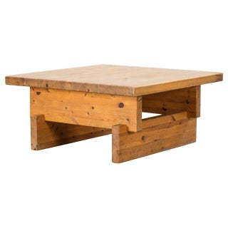Roland Wilhelmsson(attributed), Modernist Coffee Table, Solid Pine, Sweden, 60s For Sale