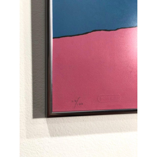 """Metal Peter Max """"Swamiji"""" Original Serigraph Signed Limited Edition 1971 For Sale - Image 7 of 10"""