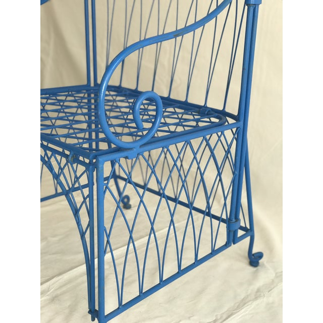 1950s Vintage Italian Iron Folding Chairs - A Pair For Sale - Image 5 of 9
