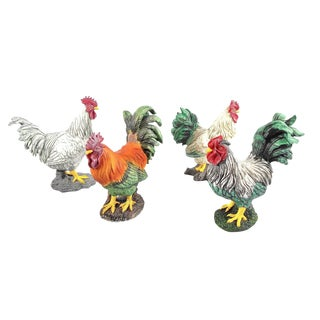 French Rooster Sculptures - Set of 4