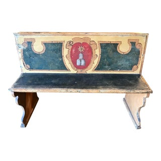 Late 18th Century Italian Tuscan Bench For Sale
