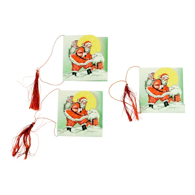 Vintage Santa Claus Bridge Tally Cards - Set of 3 For Sale
