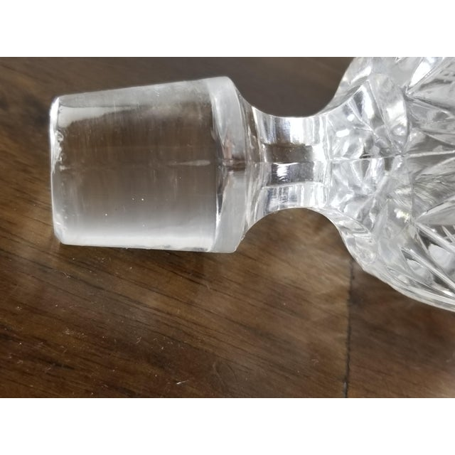 Mid 20th Century Vintage Hour Glass Lead Crystal Hand Cut Decanter For Sale - Image 10 of 11