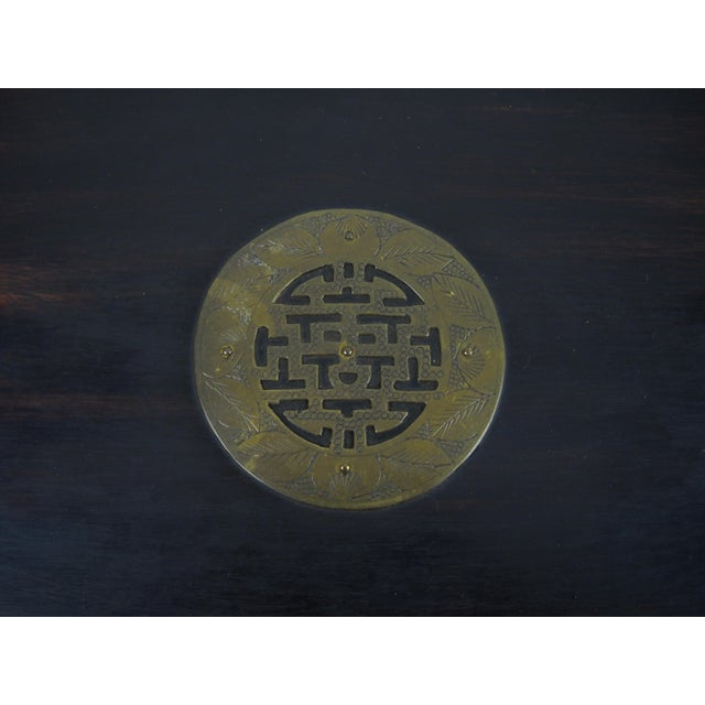 Asian Wood and Brass Serving Tray - Image 6 of 8