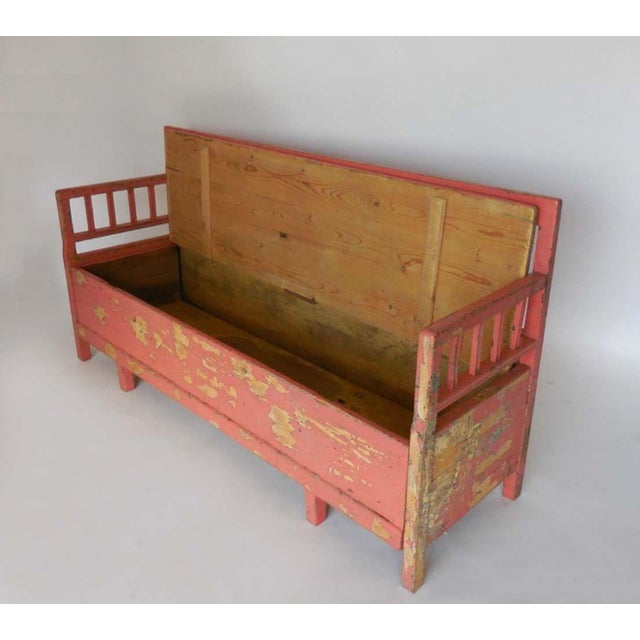 19th Century Painted Swedish Bench/Daybed For Sale In Los Angeles - Image 6 of 9