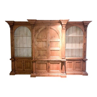 Antique Wood Bookshelf For Sale