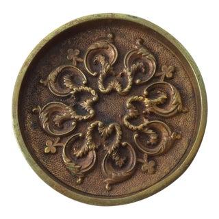 Mid Century Modern Decorative Bronze Ashtray For Sale