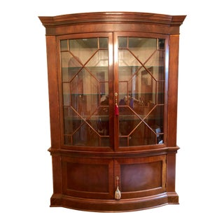 Baker Mahogany China Cabinet Historic Charleston Collection For Sale