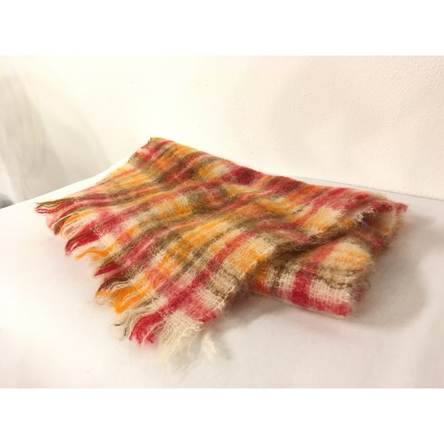 1960s Vintage Mohair Scottish Throw For Sale - Image 5 of 5